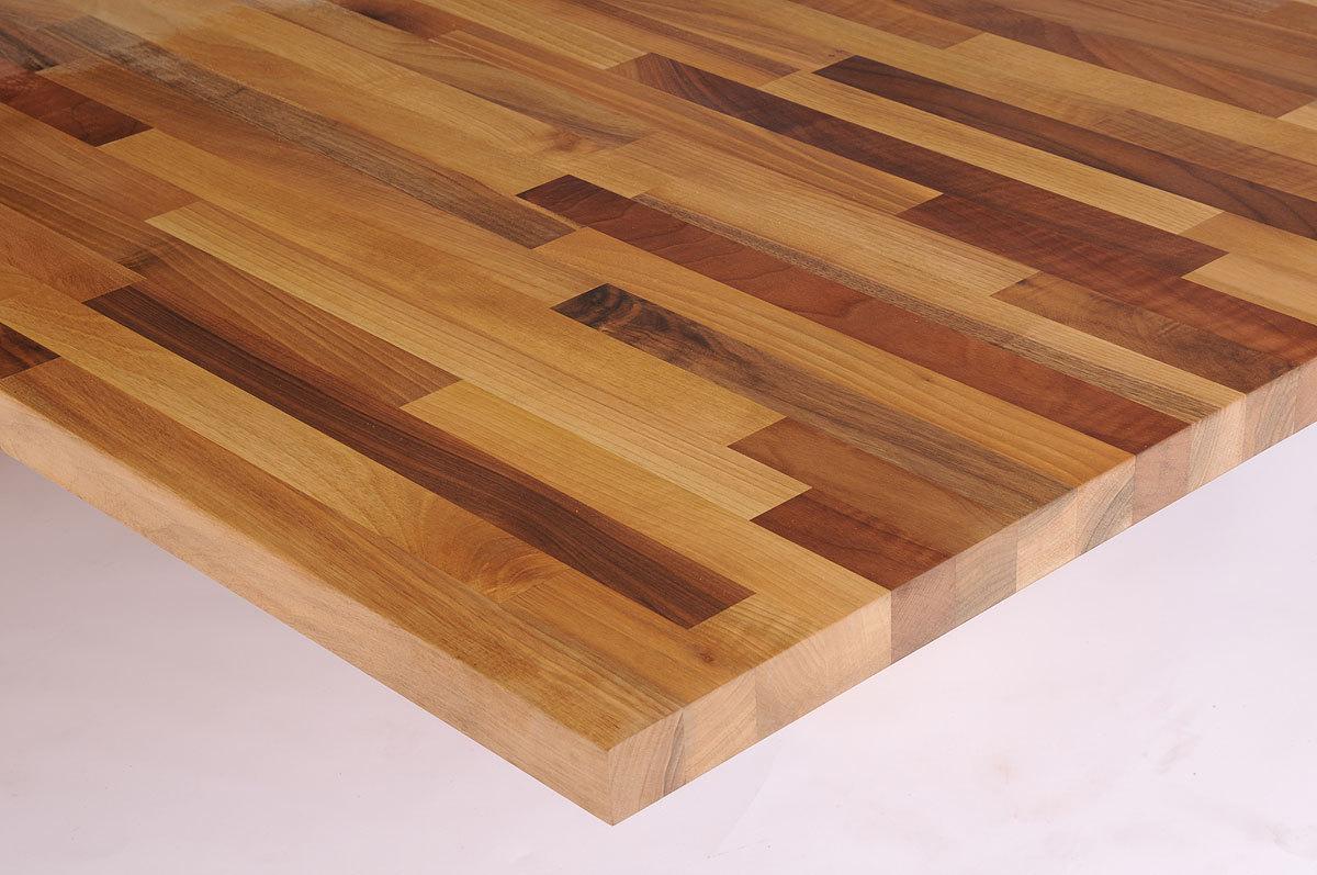 Tischplatte Massivholz Europischer Nussbaum kgz FSC 40