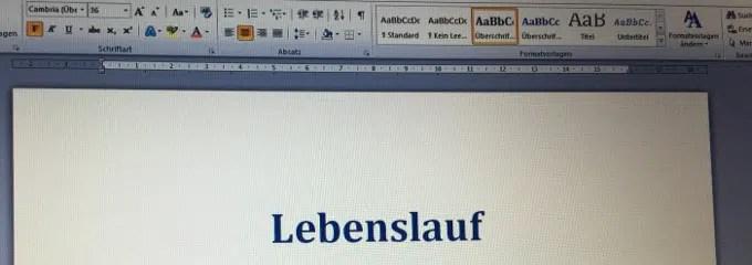 Lebenslauf Schreiben Arbeitsrecht 2019