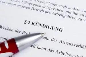 Kndigung vom Arbeitsvertrag  Arbeitsrecht 2019