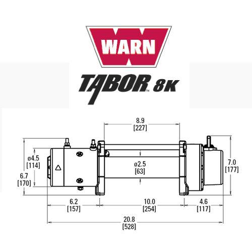 WARN Tabor 8K Winch