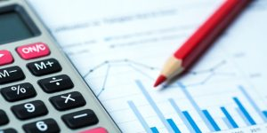 financial accounting concept with graphs and charts