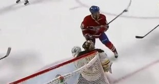 hight sticking the puck