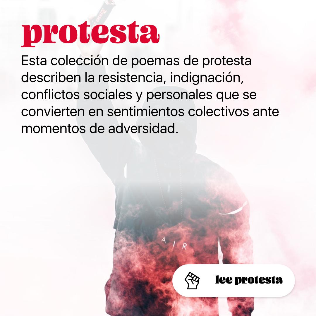 Colección de poemas de protesta | Arbol Fugaz
