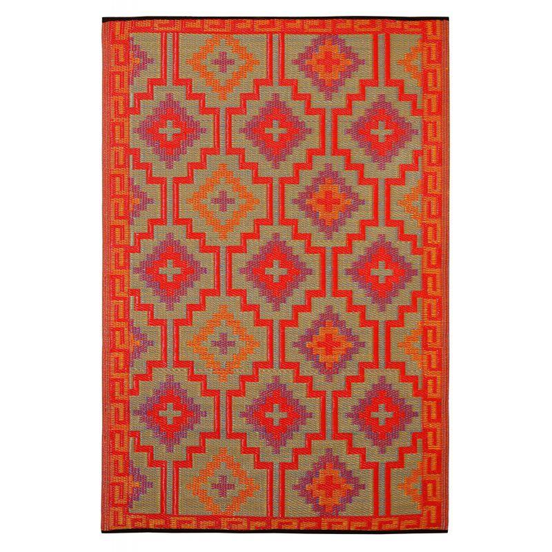 tapis exterieur fab hab lhasa orange et violet