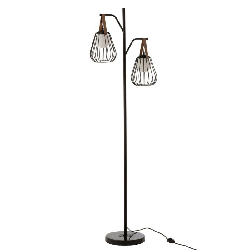 lampadaire filaire noir h160 cm ignes