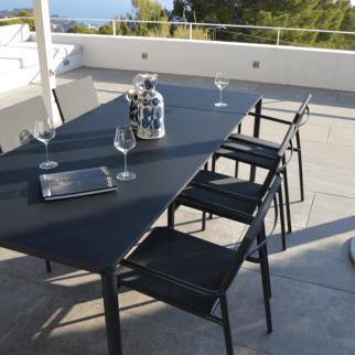 ensemble table de jardin corfou 4 fauteuils tilos