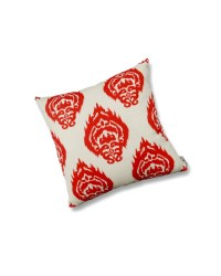 Toss Pillow Ikat Coral Orange - Arbor & Troy