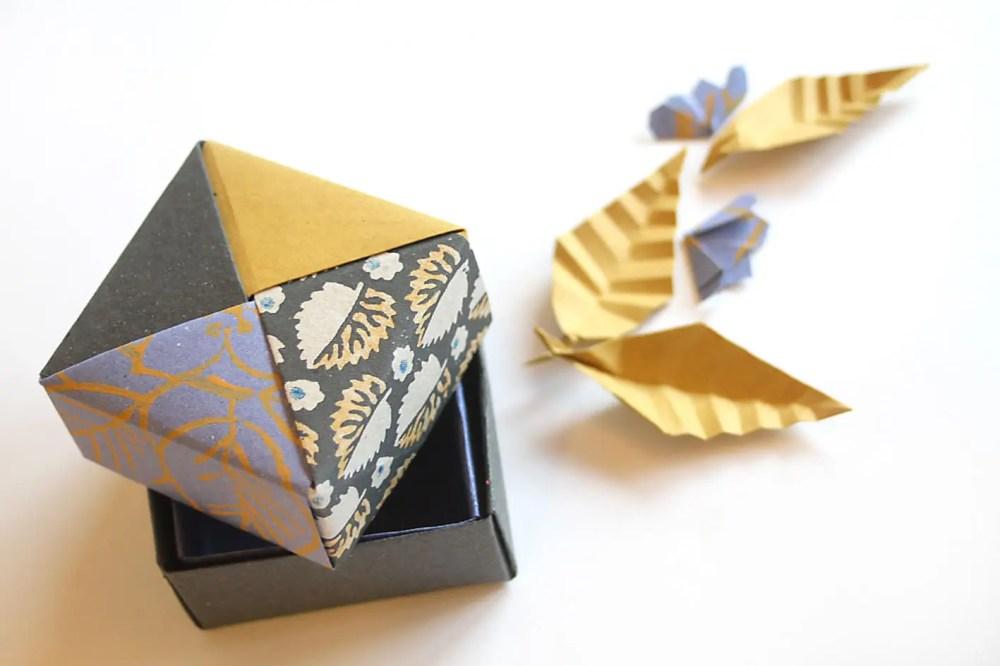 medium resolution of 1a scatola doppio fondo modello tradizionale masu coperchio scatola modulare di tomoko fuse foglia