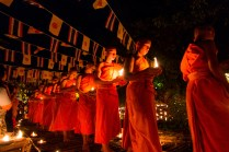 monks, candle ceremony, Chiang Mai, Thailand, arboursabroad