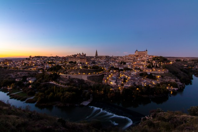 night photography, skyline, El Toledo, Day trip from Madrid, arboursabroad