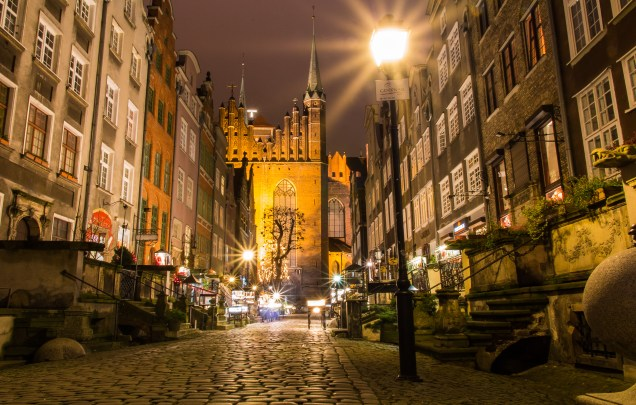 Amber Street, Night Photography, Gdansk, Poland, arboursabroad