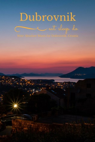 Things to do in Dubrovnik, Dubrovnik must sees, Croatia, Sunset, arboursabroad