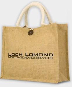 Petit sac shopping publicitaire écologique en jute
