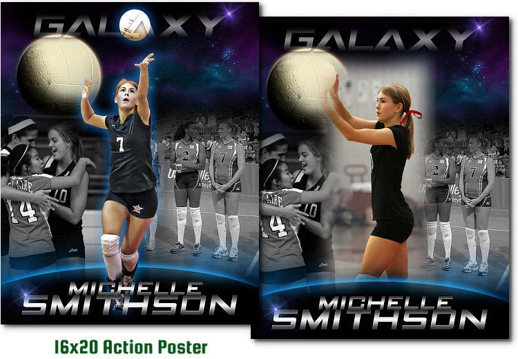 Volleyball GALAXY 3999 ARC4Studio Photoshop Templates For Photographers