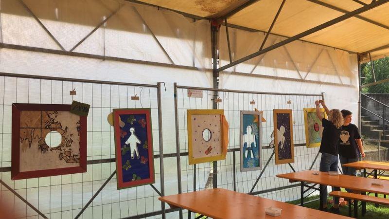 A Mornago i quadri di Artistica-Mente in mostra. Il nostro grazie per l'ospitalità ricevuta