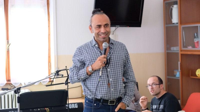 Fabio Perversi, anima dei MATIA BAZAR, graditissimo ospite in comunità-alloggio Arcobaleno