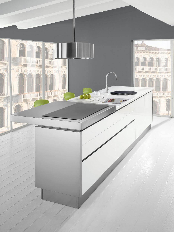 Trend arca cucine italia cucine in acciaio inox for Top per isola cucina