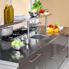 Kitchen Work Station Cabinets Columbus 工作地点 Arca Cucine 意大利 不锈钢厨房 不锈钢厨房摩洛伊斯兰解放阵线 工作站 干