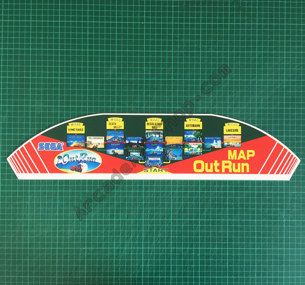 OutRun pvc map topper for minicabaret cabinet  Arcade