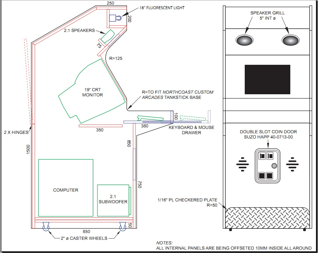 Arcade Cabinet Construction Plans Cabinets Matttroy