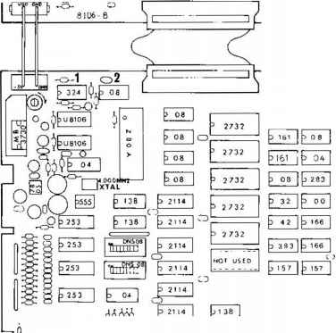 A Circuit Board Ic Location And Parts List a Main circuit