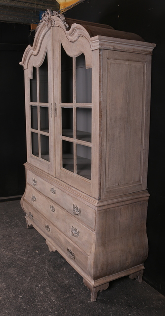 Bleached Oak Cabinet  Antique CUPBOARDS