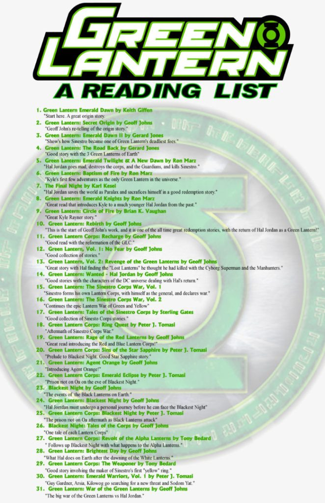 Green Lantern Month Reading List
