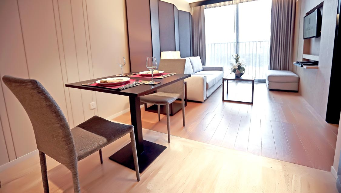 Spacious and Cozy hotel accommodations Arcadia Suites Bangkok Official Website