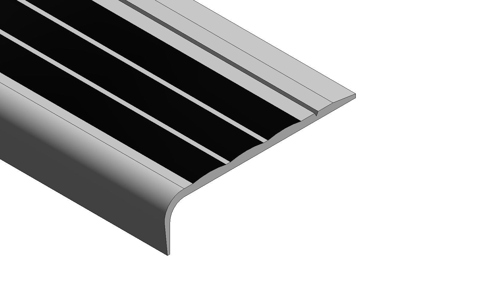 Building Product Non Slip Carpet Stair Nosing 102E26E Arcat | Carpet Stair No Slip Nosing | Stair Tread Nosing | Strips | Non Skid | Laminate Flooring | Gravel