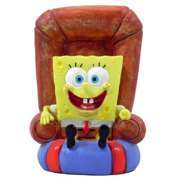 Spongebob Squarepants In Chair Aquarium Ornament - Aquar