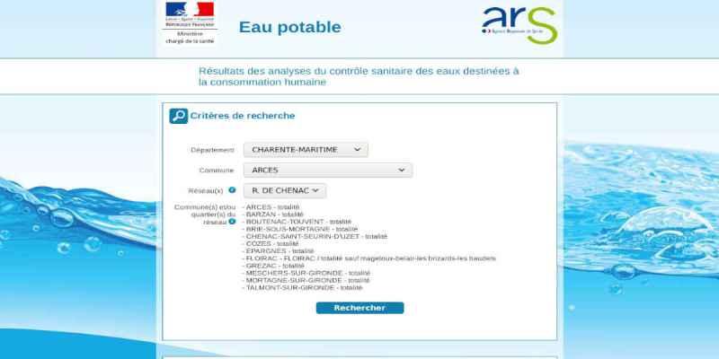 Qualité de l'eau sur la commune de Arces-sur-Gironde
