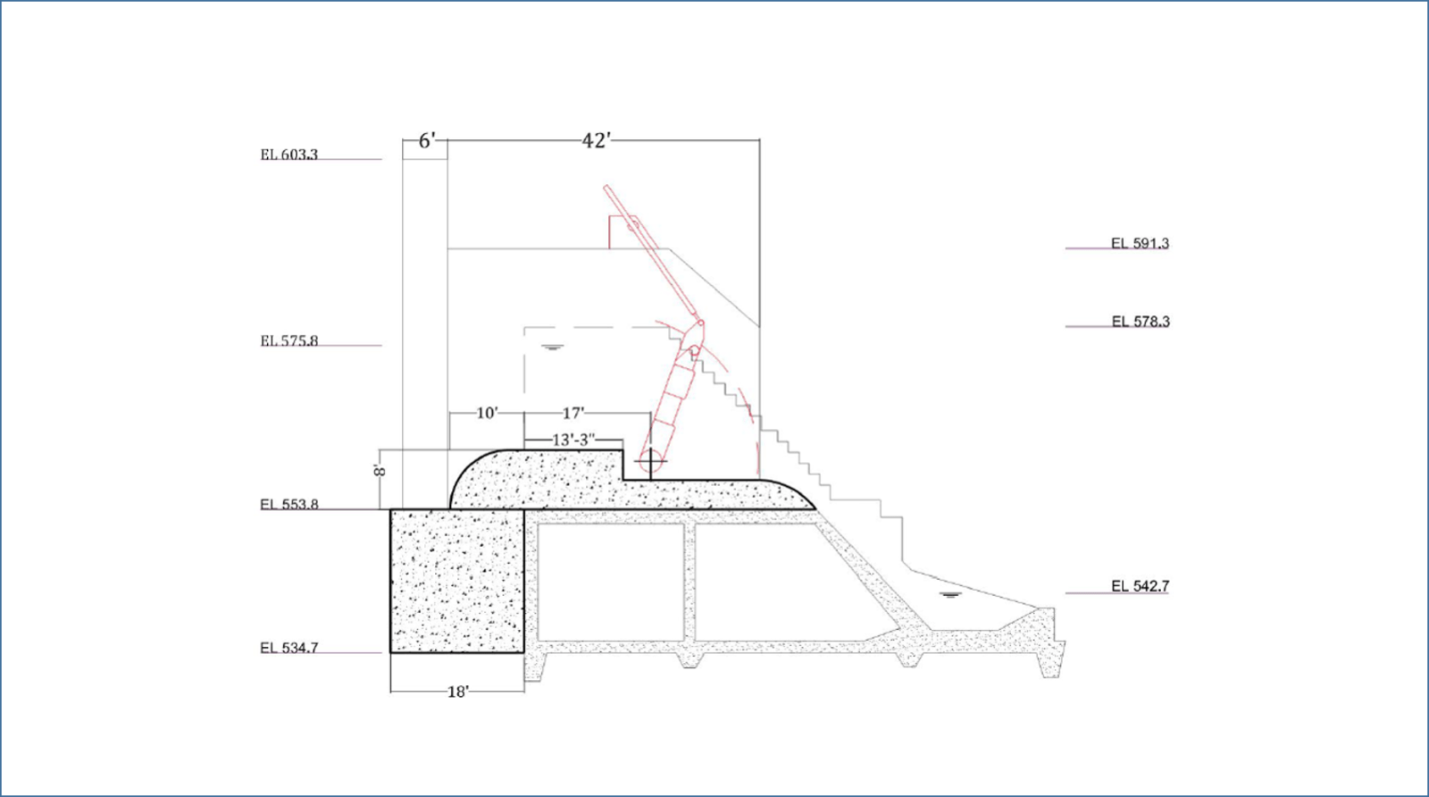 small resolution of  to modify the dam in a manner that will allow the gates to be attached to the structure a schematic of these improvements is shown outlined in black in