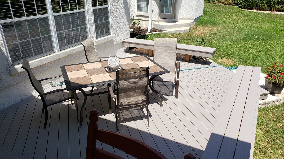 low maintenance deck replacement in the