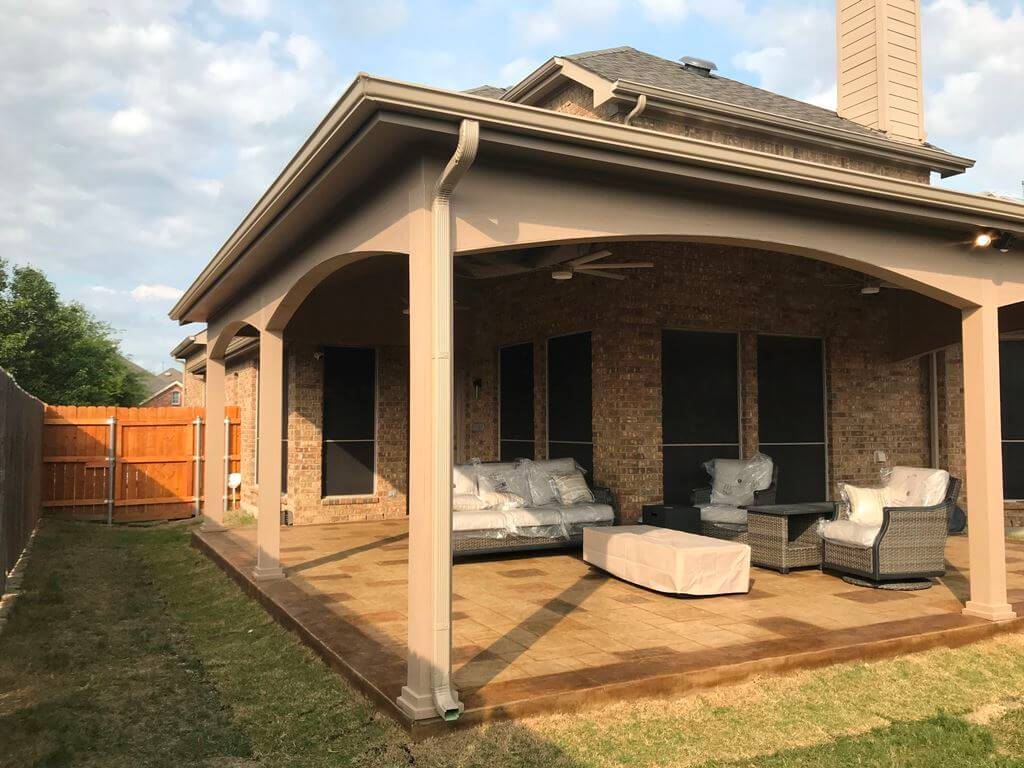 forney tx covered patio steeped in