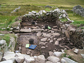 Fig 5-Interior of Slievemore House 23 during the excavations