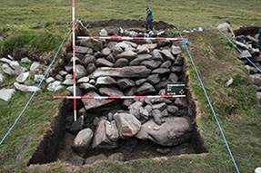 Fig 7-The massive Southern wall of Roundhouse 1