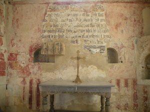 Reredos on east chancel wall