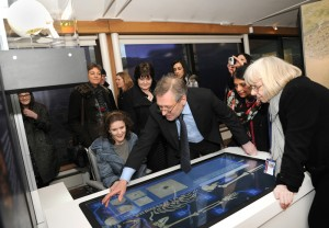 Interactive panels tell the story of the search for Richard III. Image: Colin Brooks, Courtesy University of Leicester