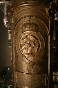 Flower of England. The Tudor Rose emblem was cast on this cannon, which was made by the English manufacturers Robert and John Owen in 1531. Image: M Symonds
