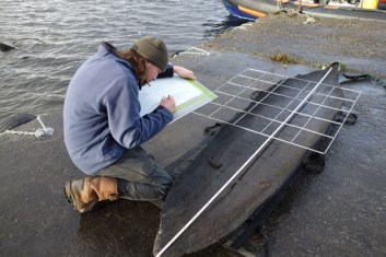 Recording-a-Logboat-from-Rinnaknock-Lough-Corrib