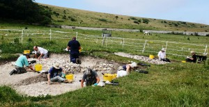 Excavations at Ovingdean 2015. (Photo: John Skelton).