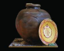 Somerset Museum Roman hoard cake - credit peboryon (1)_opt