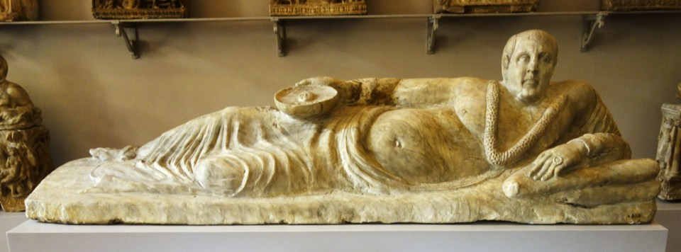 Etruscan sarcophagus from Chiusi