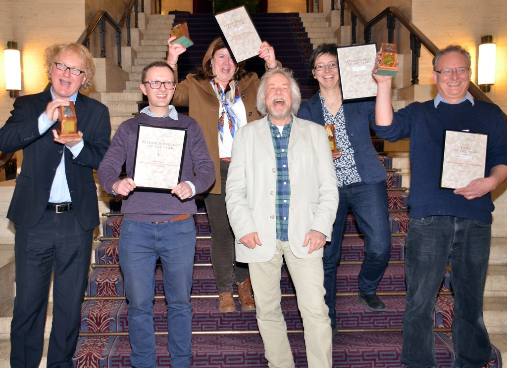 The 2018 Current Archaeology Award winners, celebrating at CA Live! 2018 [Photo credit: Current Archaeology]