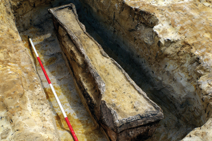 Roman lead coffins recovered in Surrey