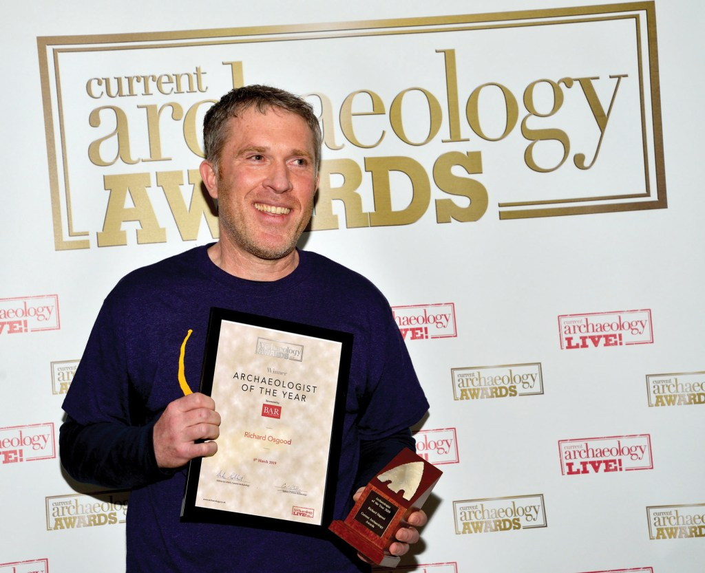 Richard Osgood, winner of Archaeologist of the Year 2019 at the Current Archaeology Awards.