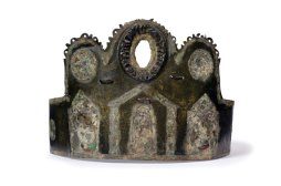 Discovered in Cavenham Heath, Suffolk, in 1921, this Roman crown may have been worn by a priest in the 4th century AD