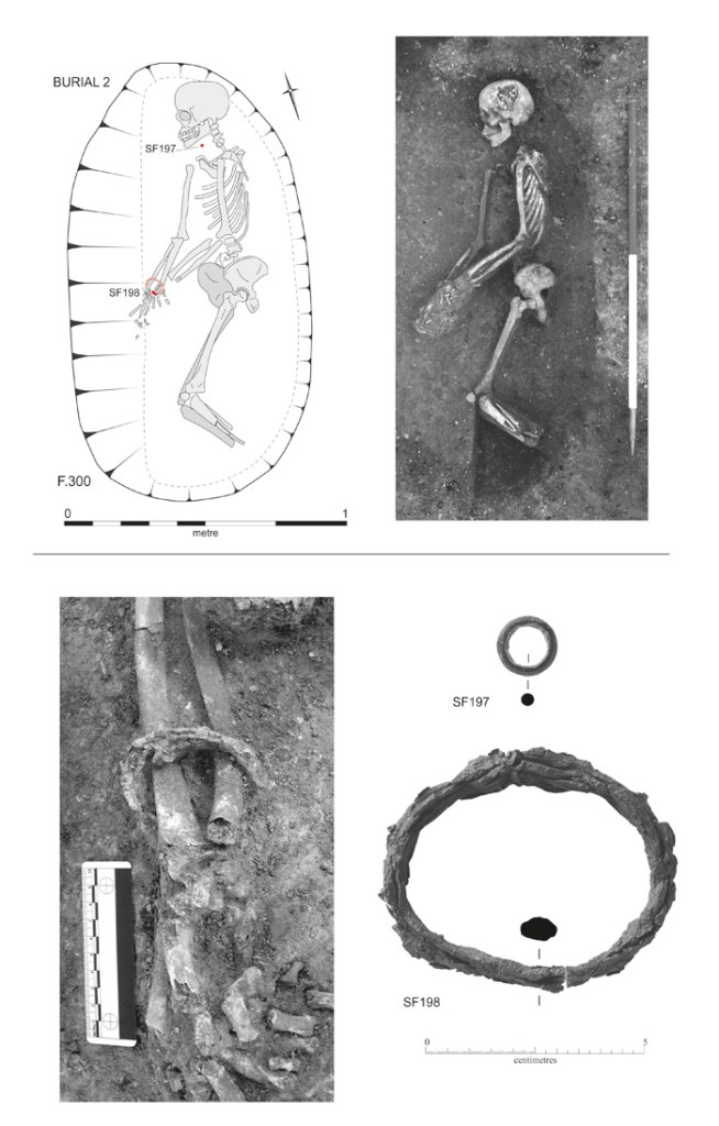 Known as Burial 2, this is the most formal Iron Age grave found at Trumpington Meadows. Its young female occupant is also the only individual of this period found on the site with grave goods.