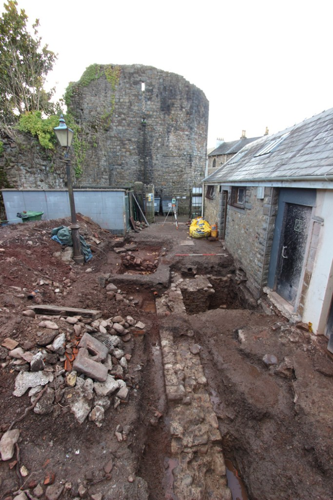 The excavation at the start of back-filling