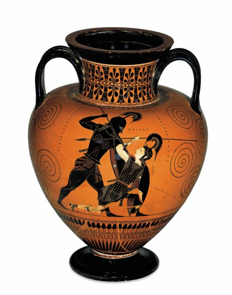 Amphora showing Achilles killing Penthesilea